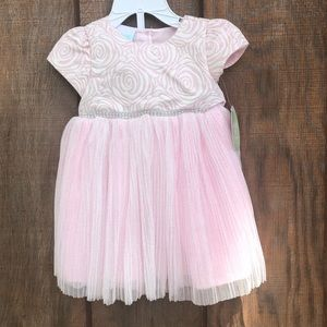 Nanette Baby Lace Pink Dress with Embilishment